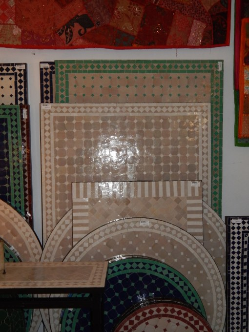 mesa marroquí rectangular