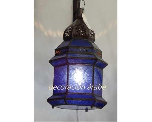 ámpara marroquí dar fez azul