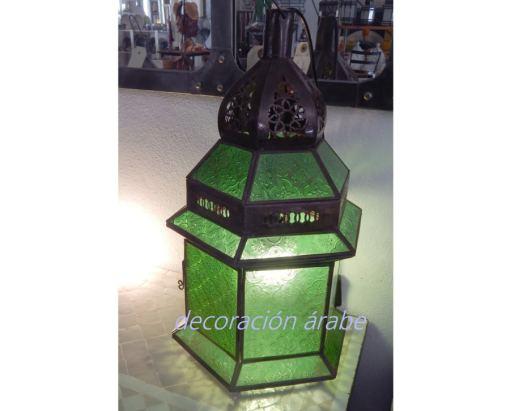 ámpara marroquí dar fez verde