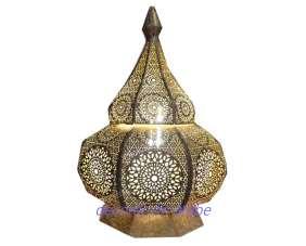 lampara india latón de mesa
