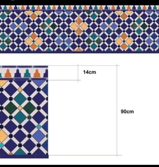 azulejo mosaico Arrallanes, diseño de la Alhambra