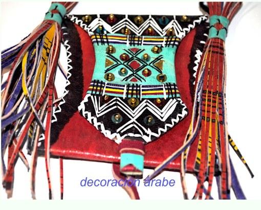 bolso cuero africano
