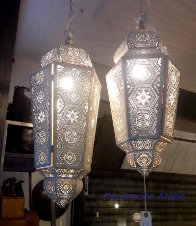 lámpara de India de techo blanca modelo Benares