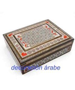 caja taracea rectangular