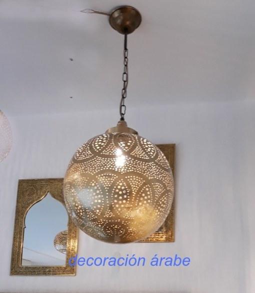 lampara árabe latón