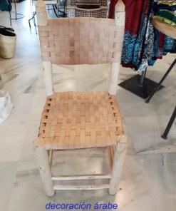 silla de madera y cuero