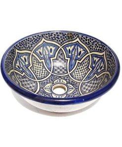 lavabo artesanal marroquí cerámica