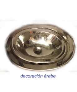 lavabo plateado árabe