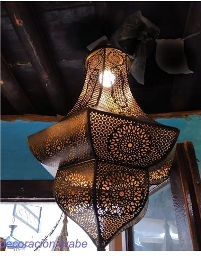 lámpara techo india colonial