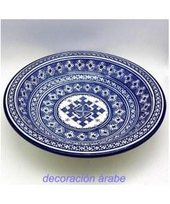 plato cerámica árabe marroquí