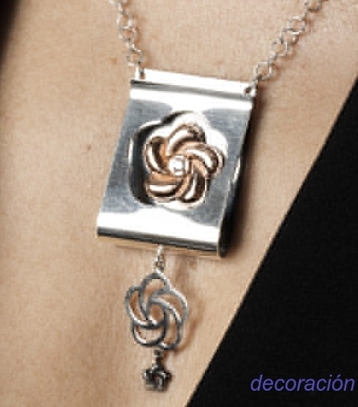collar mujer plata oro circonita
