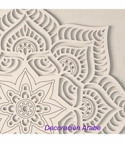 mandala pared de madera decorativo