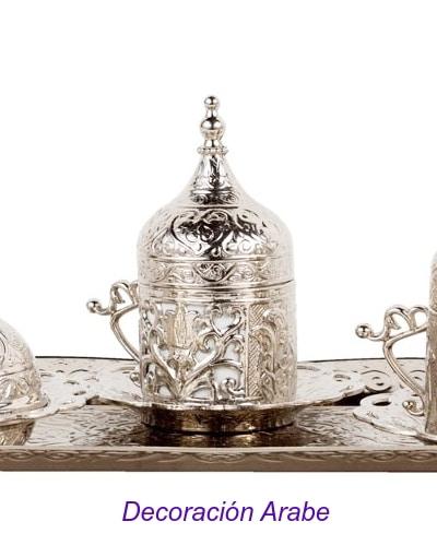 vaso de porcelana y alpaca turco