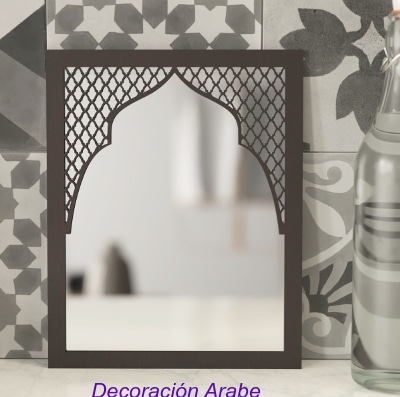 espejo celosía madera árabe andaluz