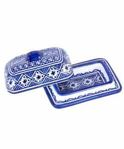 mantequillera ceramica marroquí azul