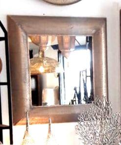 espejo decorativo dorado calado