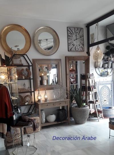 espejos en la tienda