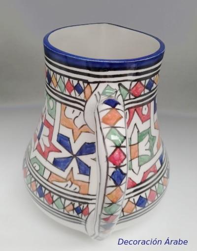 jarra marroquí de cerámica