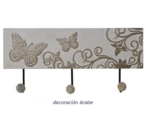 percha de pared mango forja mariposas