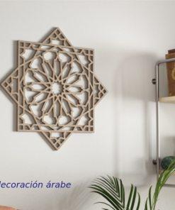 celosía de madera estilo Alhambra