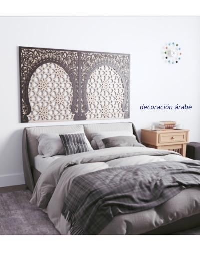 Arabic lattice headboard