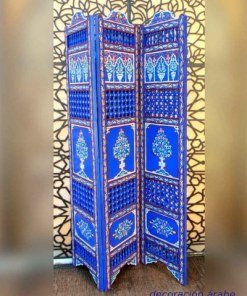 biombo marroquí de madera pintada