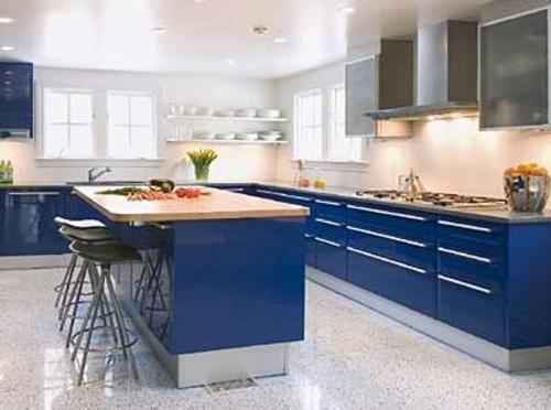 Cobalt Blue Kitchen