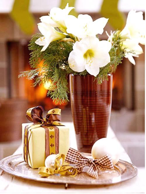 Decoracin de Navidad centros de mesa simples  DecoracionIN