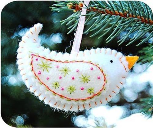 decoracin navidad adornos en fieltro y tela para el rbol