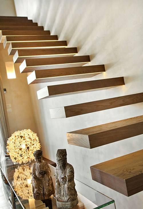 Escaleras en Casas Contemporneas  DecoracionIN