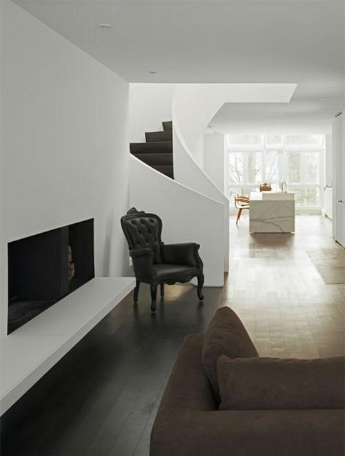 Moderna Casa en Blanco y Negro  DecoracionIN
