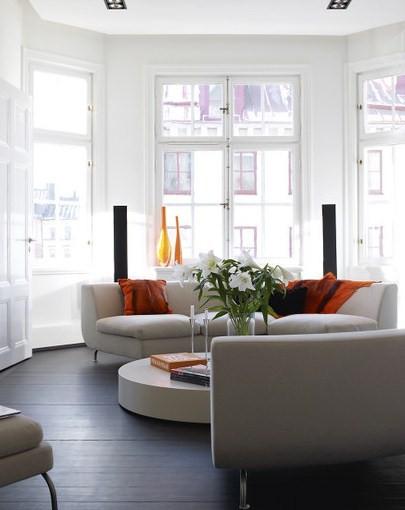Muebles Para Un Saln Con Pared Curva DecoracionIN