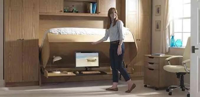 Studybed camas abatibles con escritorio que aparecen y