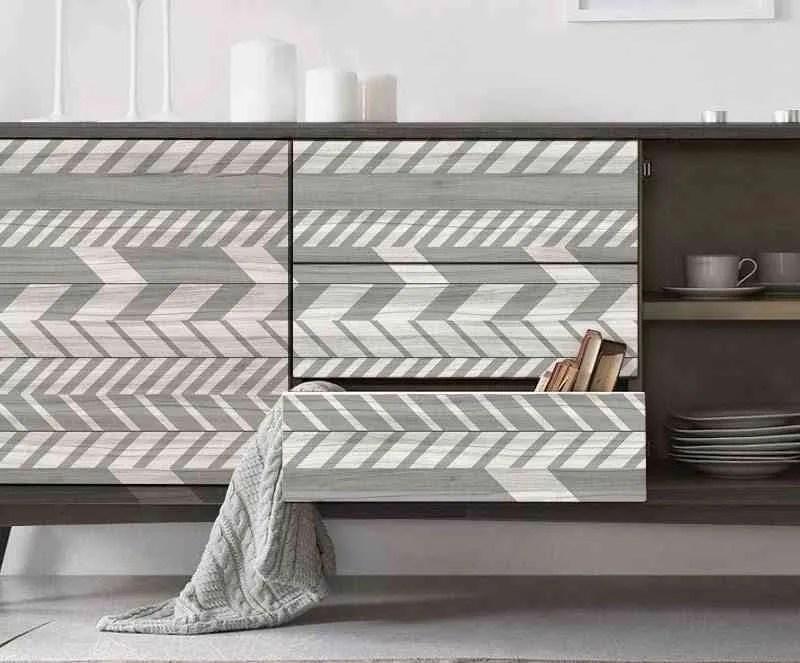 3 materiales diferentes y geniales para revestir un mueble