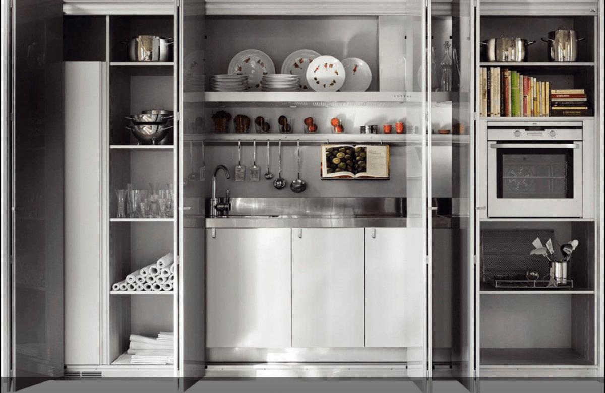 Cocinas ocultas en un armario perfectas para hogares pequeos