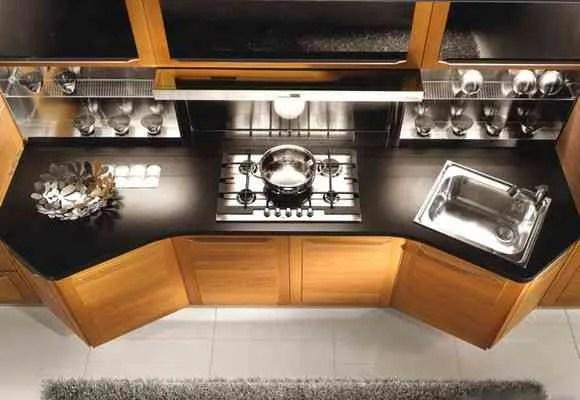 Muebles para cocinas con muchos ngulos y esquinas