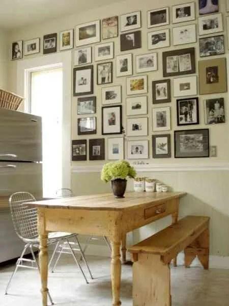 Decorar una pared con fotos antiguas  Decoracin de