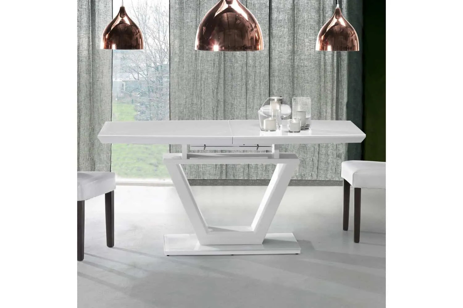 Mesas de comedor de diseo italiano combinadas madera
