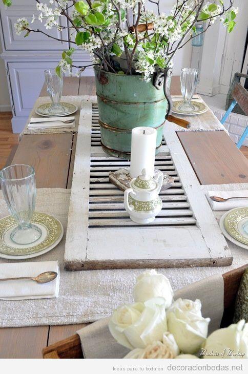 ideas para decorar la mesa de una boda ntima estilo rsticochic