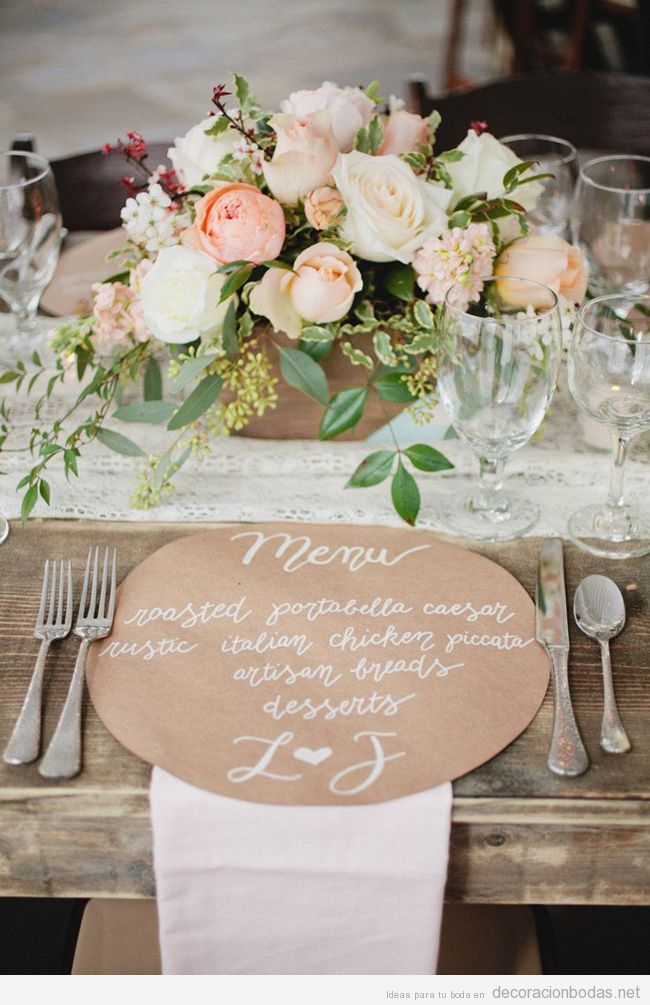 decoracin de mesa perfecta para un banquete estilo rstico y chic