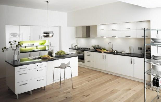 Decoracin de cocinas ultramodernas blancas