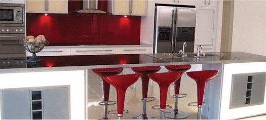 Cocinas Modernas Color Rojo - Cocinas-color-rojo