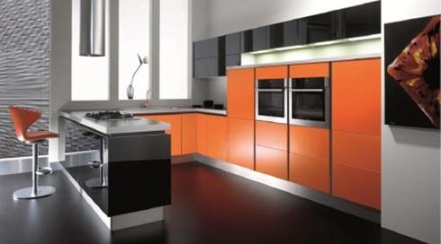 cocina-moderna-color-naranja-1