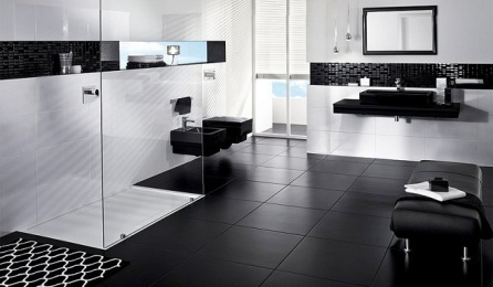 male black and white toilet