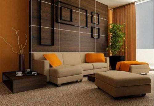 sala naranja moderna