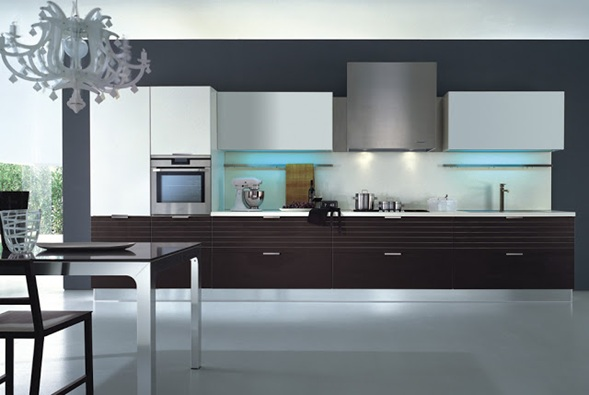 Cocinas lineales modernas - Diseno cocinas modernas ...