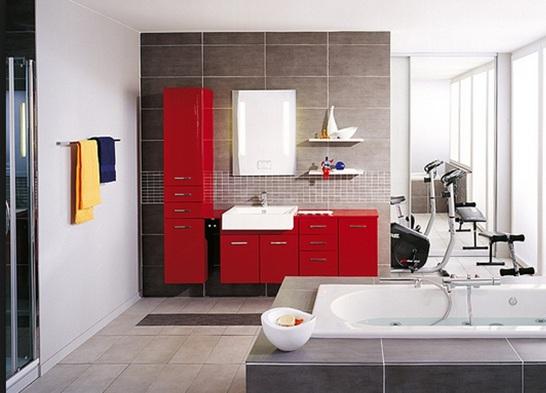 Decorar Tu Baño Con Rojo Fotos E Ideas