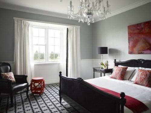 dormitorio-gris-rojo