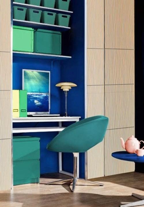 oficina color azul
