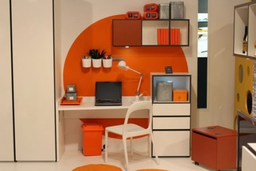 oficina color naranja